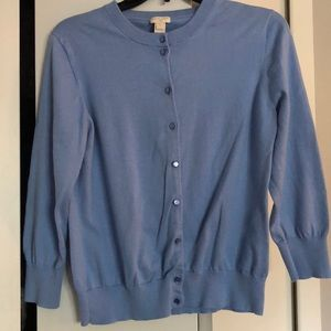 J. Crew Clare Cardigan light blue Xl.